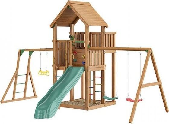 Jungle Gym Palace + Swing Module Xtra + Рукоход с гимнастическими кольцами