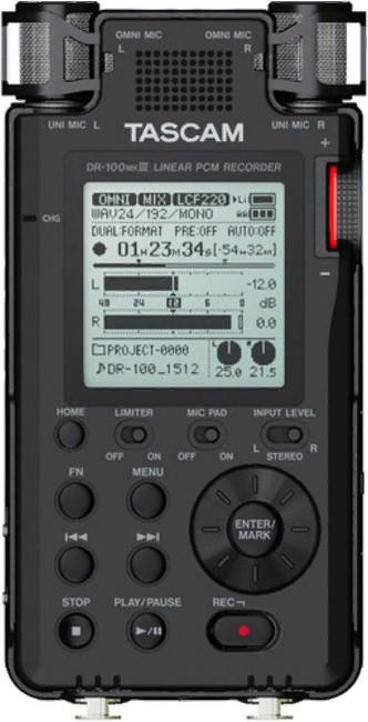 Портативный рекордер Tascam DR-100 MKIII