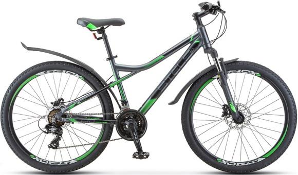 "Велосипед Stels Navigator 610 D 26 V010 (2020) серый/зеленый 26""/14"""