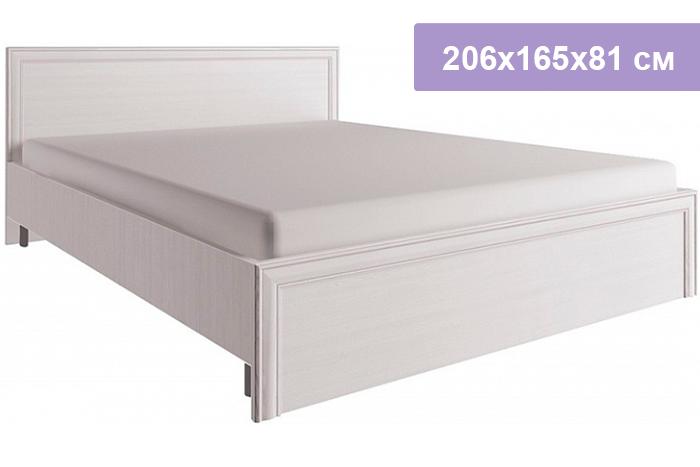 Двуспальная кровать Цвет Диванов Taylor белый 206x165x81 см