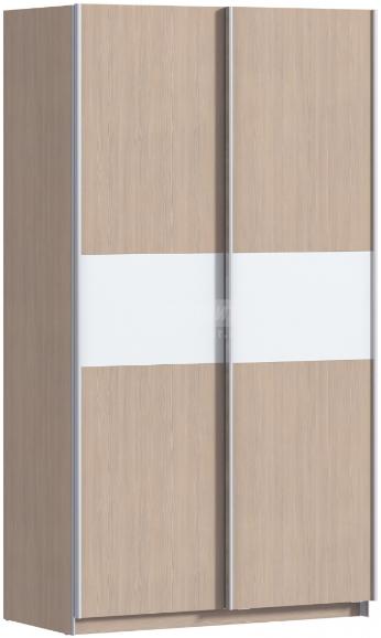 Шкаф-купе Столплит Дакота 012-100-000-1400 сосна авола шампань/белый глянец 120x222x63 см