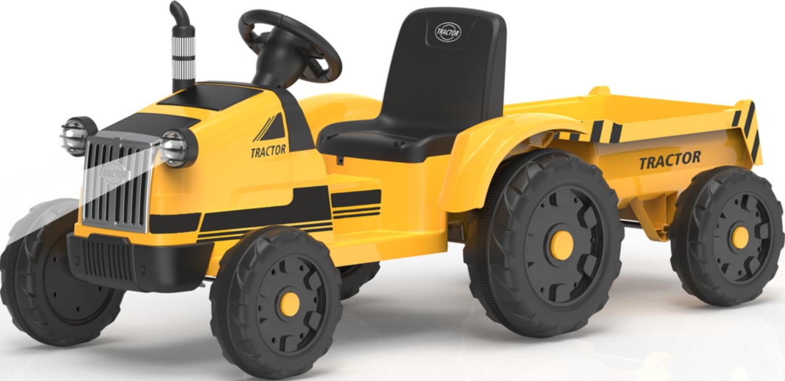 Трактор с прицепом Barty TR 55 Yellow