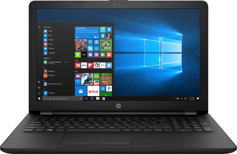 """Ноутбук HP 15-ra002ur 15,6""""/1,6GHz/4Gb/128GbSSD/W10 Black"""