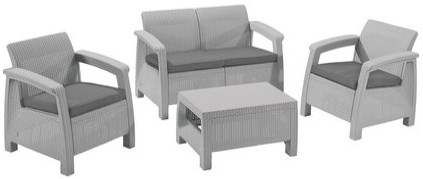 Комплект мебели Allibert Corfu светлый серый