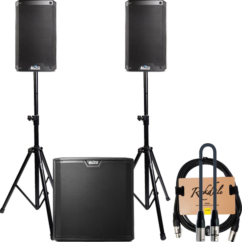 Акустическая система Alto TS308 + Alto TS315S + Rockdale 3302_T + Quik Lok MX775-9 + Rockdale MC001.3.3