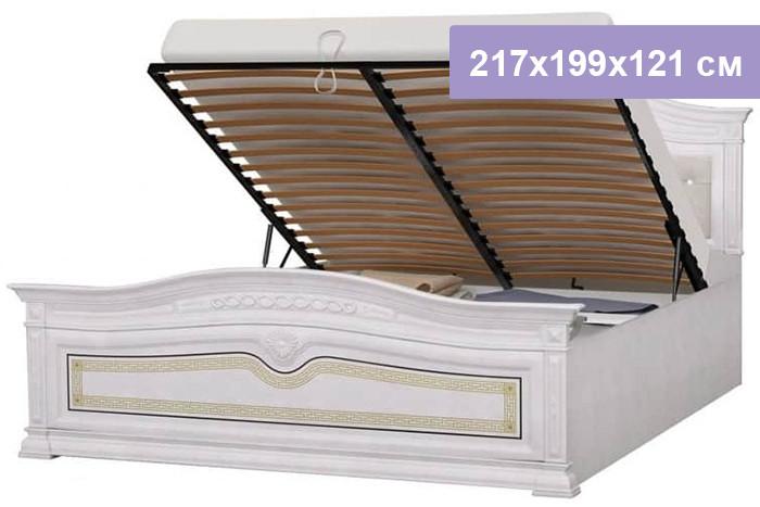 Двуспальная кровать Интердизайн Версаль бежевый/бежевый 217x199x121 см (подъемный механизм)