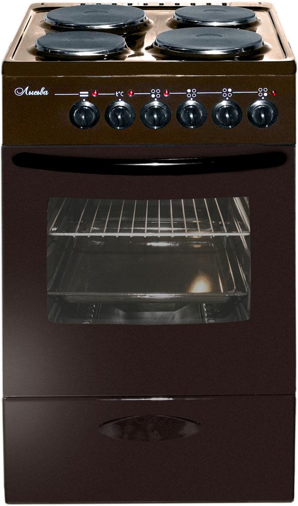 Плита Лысьва ЭП 402 МС коричневый, с кр…