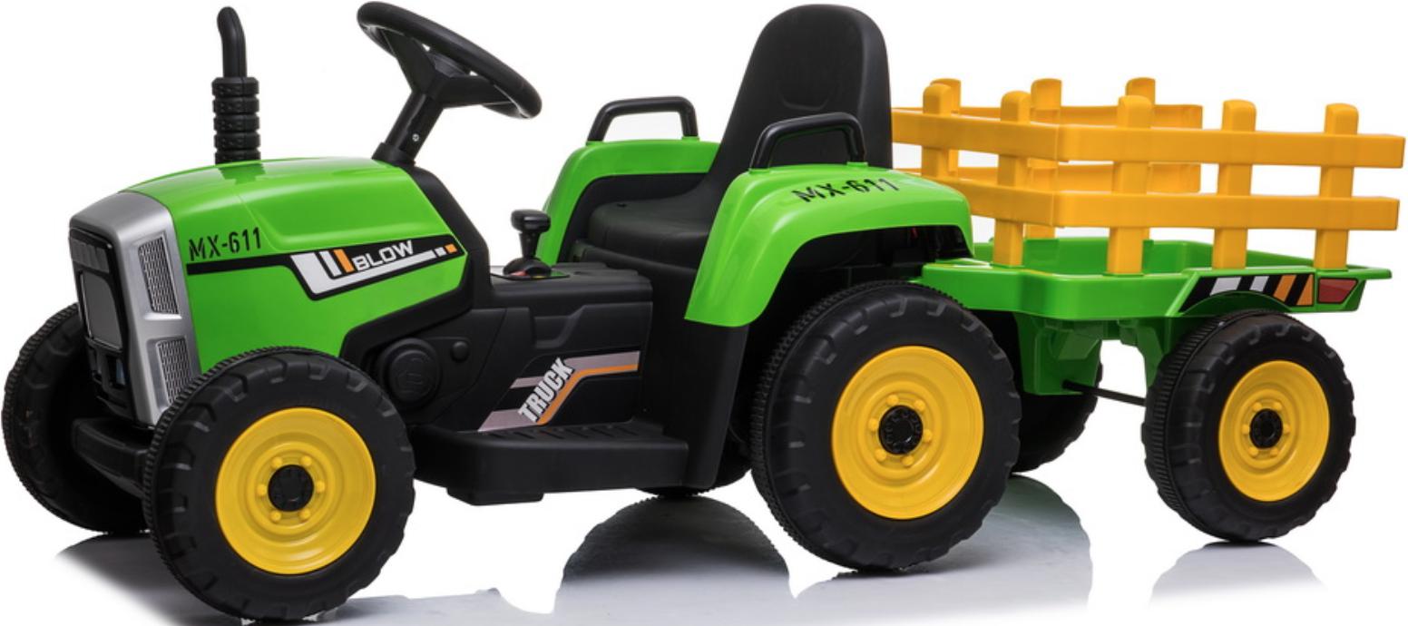 Трактор с прицепом Barty TR 77 Green