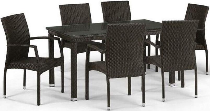 Комплект мебели Афина-Мебель T256A/Y379A-W53 коричневый