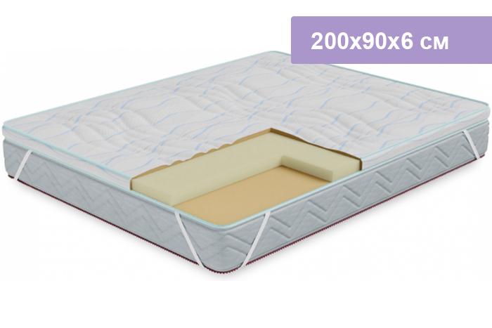 Наматрасник Столплит Соник-Латекс 200x90x6 см (чехол Кулер)