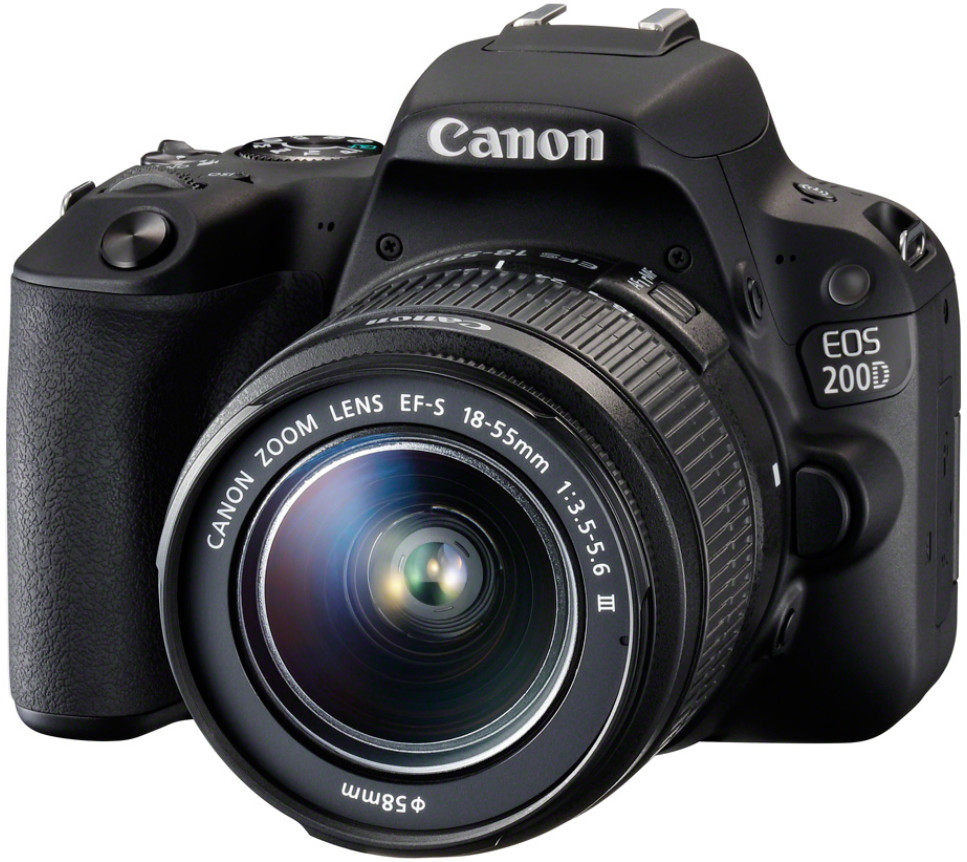 Фотоаппарат Canon EOS 200D Kit EF-S 18-…