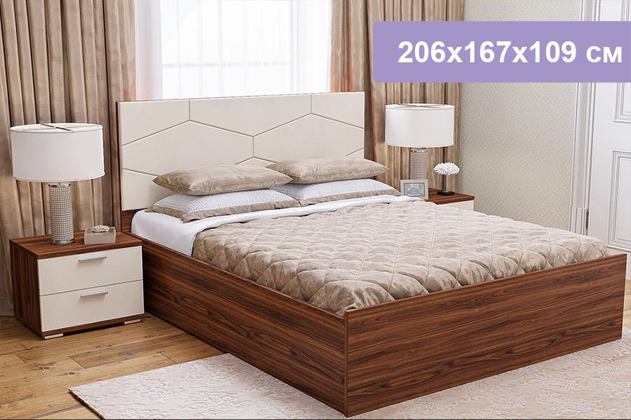 Двуспальная кровать Цвет Диванов Вейла орех каннеро, Boom Milk 206x167x109 см