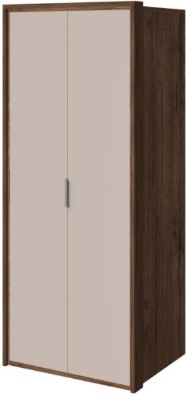 Шкаф Интердизайн Тоскано темно-коричневый/коричневый 221x97x60 см