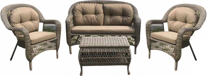 Комплект мебели Афина-Мебель LV520BB коричневый/бежевый
