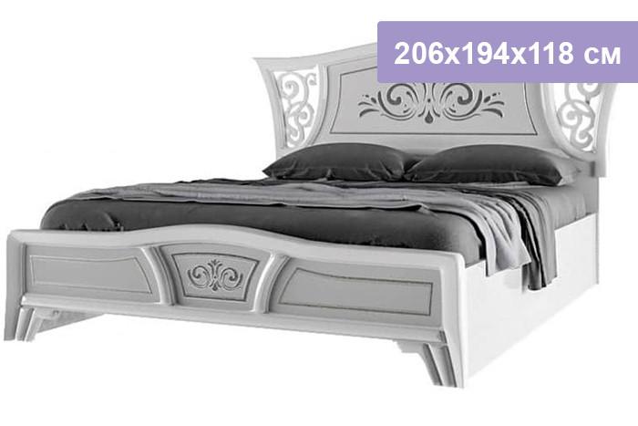 Двуспальная кровать Интердизайн Винтаж белый/белый 206x194x118 см (ортопедическое основание)
