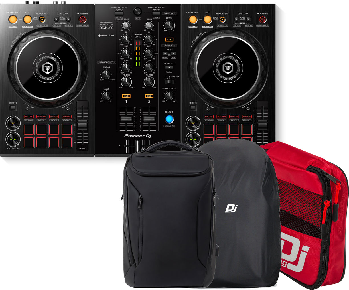 Dj-контроллер Pioneer DDJ-400 + DJ-BAG Urban BackPack с аксессуарами