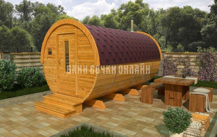 Баня-бочка «Компакт» 350x200 см