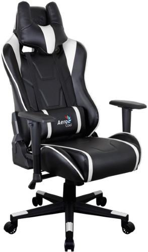Игровое кресло Aerocool AC220 AIR-BW черный/белый