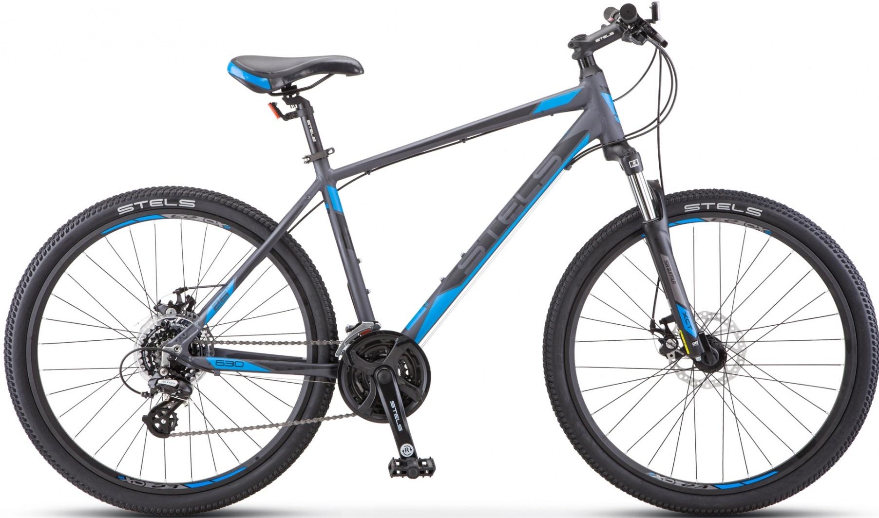 """Велосипед Stels Navigator 630 MD 26 K010(2020) антрацитовый/синий 26""""/16"""""""