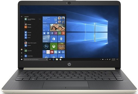 "Ноутбук HP 14-cf0010ur 14""/1,6GHz/4Gb/1Tb Gold"