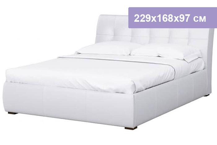 Двуспальная кровать Интердизайн Бьянка белый/белый 229x168x97 см (ортопедическое основание)
