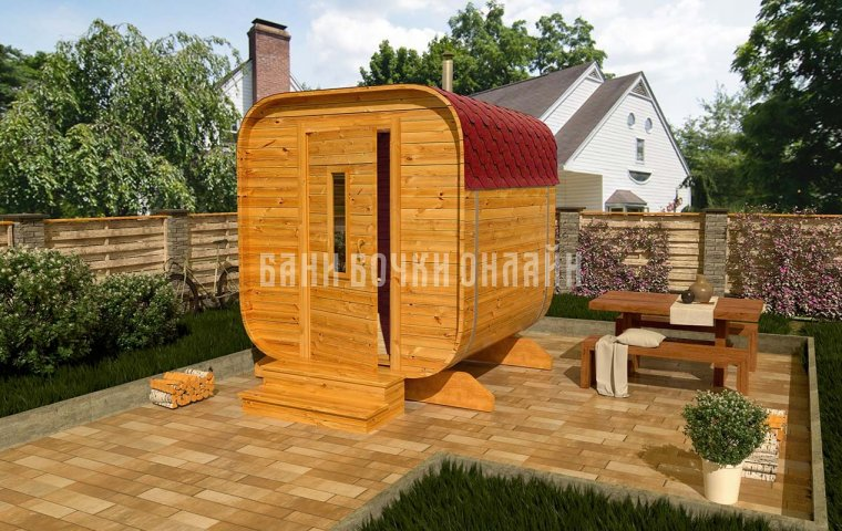 Баня-квадробочка «Мини» 210x200x210 см