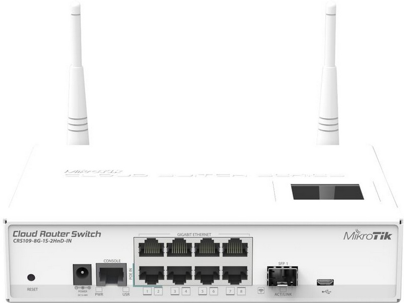 Маршрутизатор MikroTik RouterBoard CRS109-8G-1S-2HnD-IN