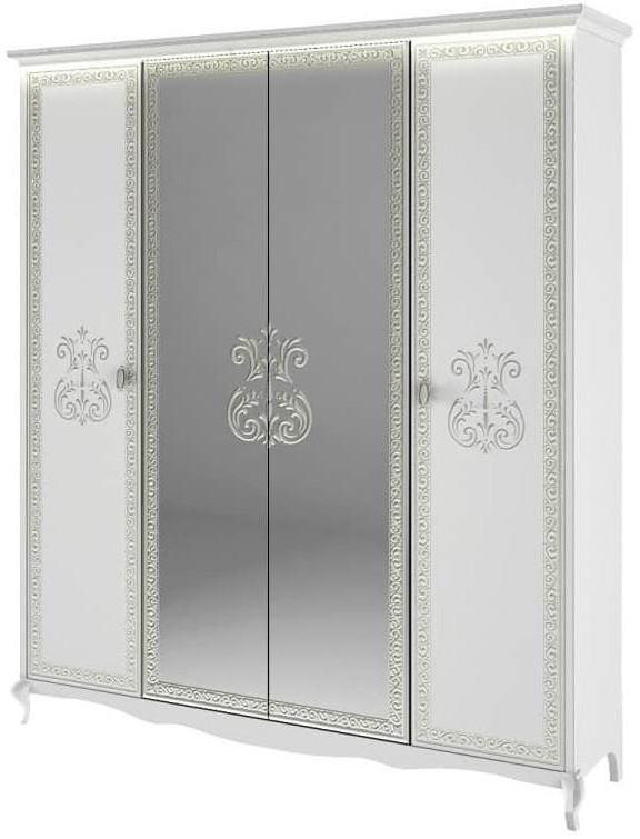 Шкаф Интердизайн Винтаж белый/белый 2300x1928x639 см