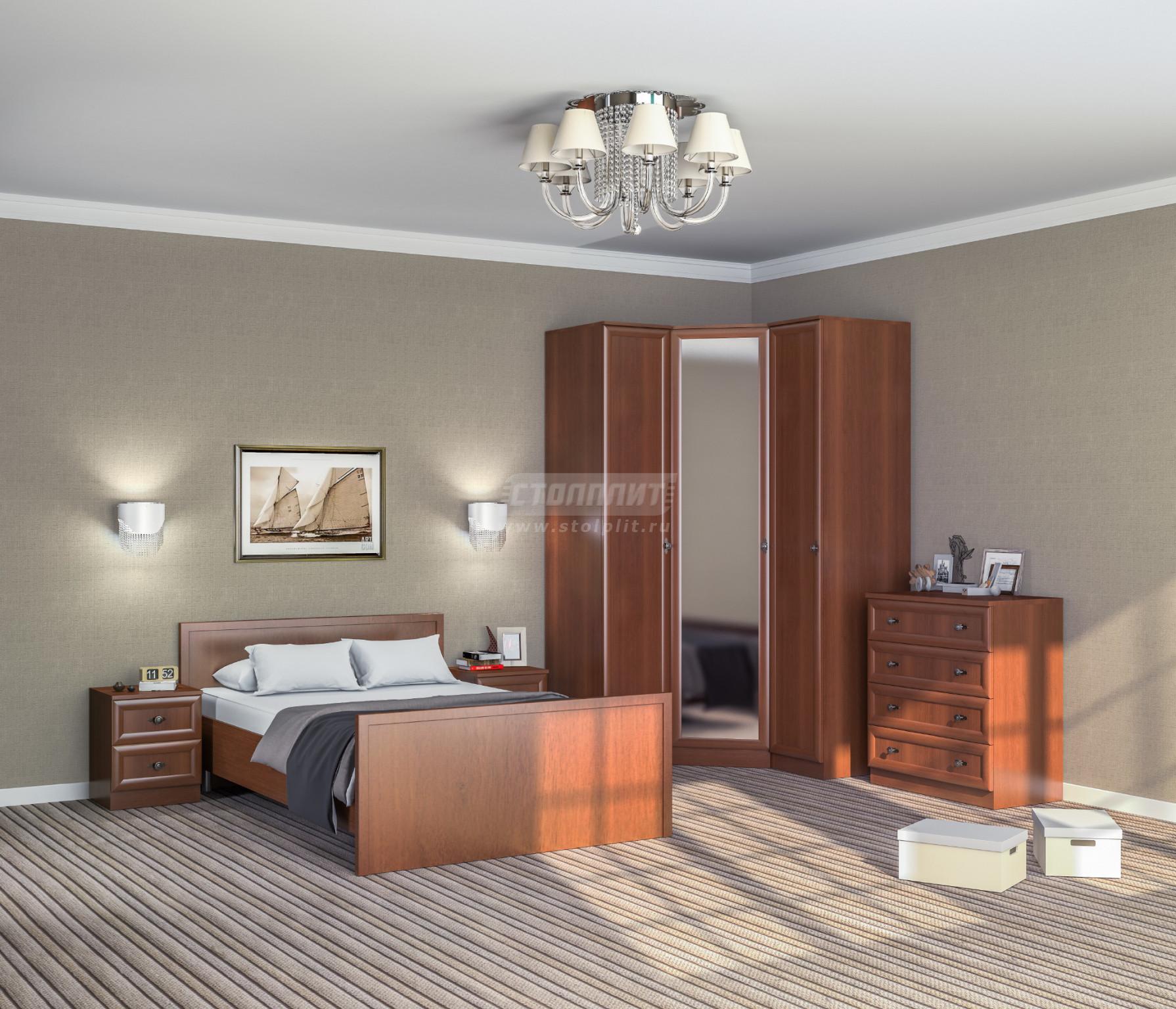 Спальня Столплит Джорджия 442-434-410-1346 итальянский орех