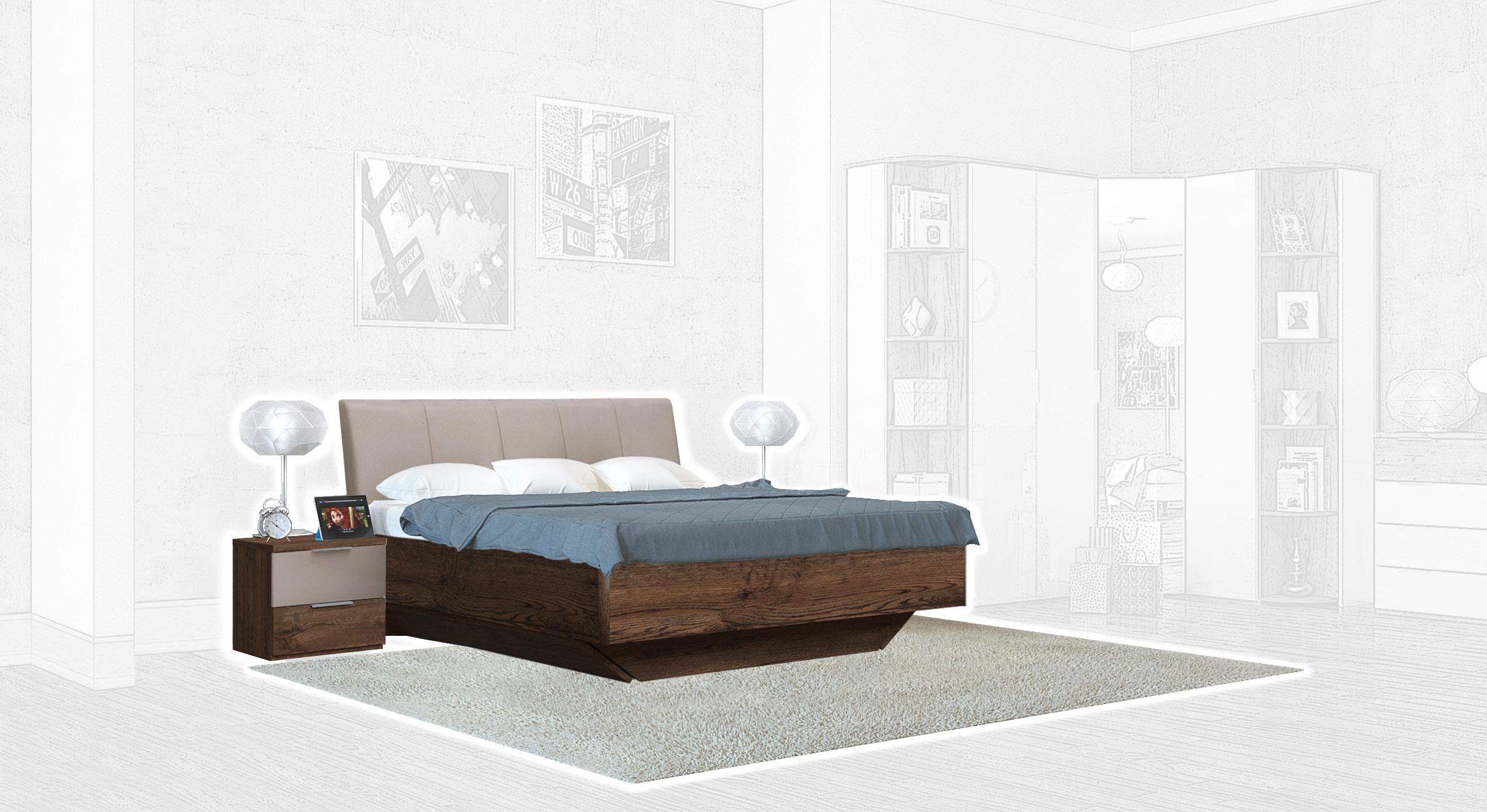 Спальня Интердизайн Тоскано дуб эйприл/капучино (композиция 1)