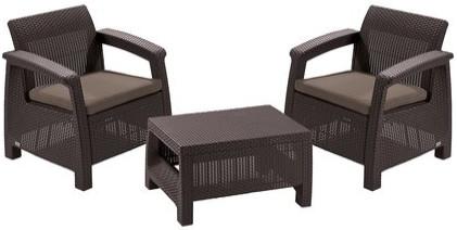 Комплект мебели Allibert Corfu Weekend  коричневый/серый/бежевый