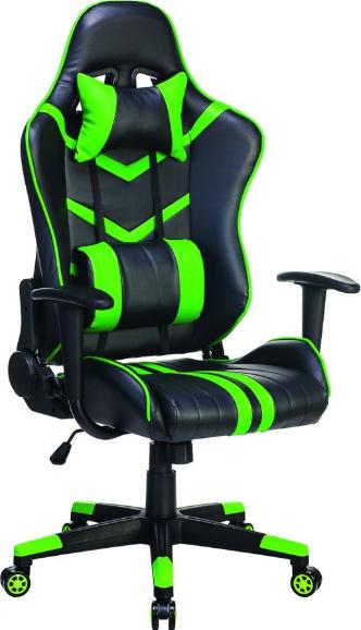 Игровое кресло Бюрократ СН-789/BL+GR черный/зеленый