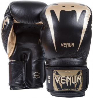 Перчатки Venum Giant 3.0 Black/Gold Nappa Leather