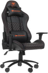 Игровое кресло Cougar Rampart черный/красный
