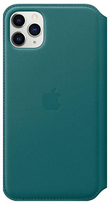Чехол Apple iPhone 11 Pro Max Leather Folio Peacock