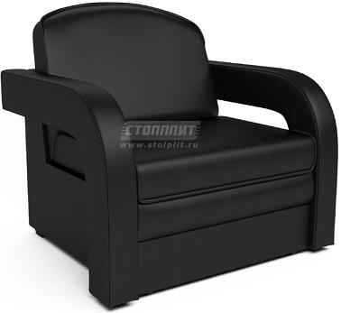 Кресло-кровать Столплит Карина-2 черный кожзам 95x80x80 см