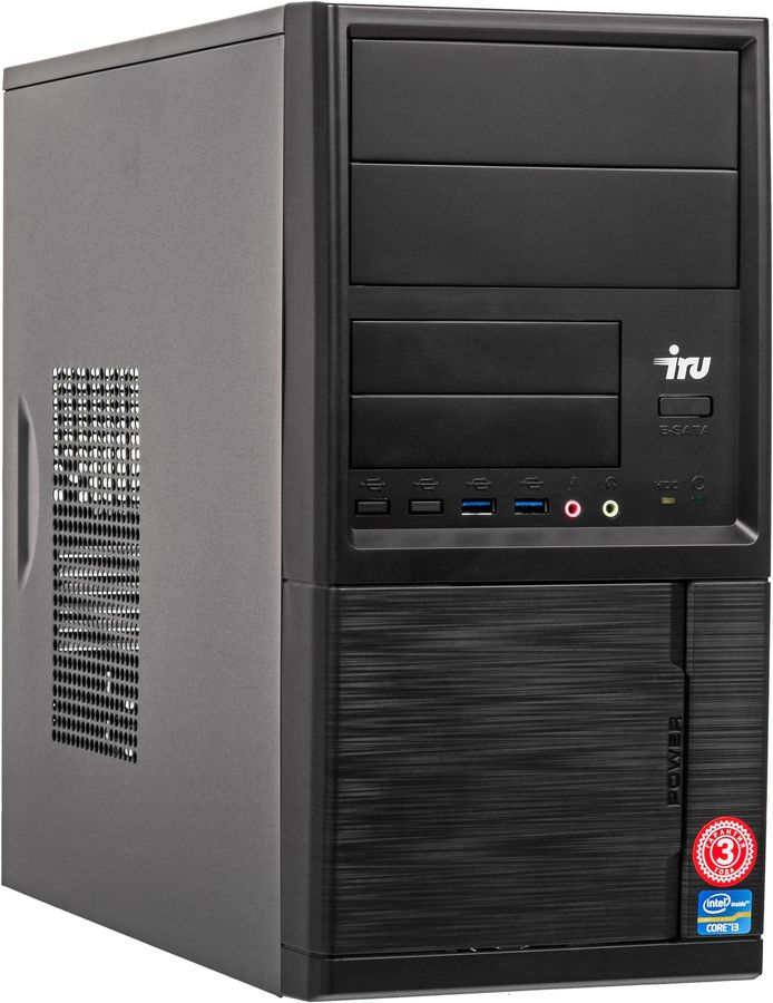 Компьютер iRU Office 313 MT 3,6GHz/8Gb/240GbSSD/GT710/W10 Black