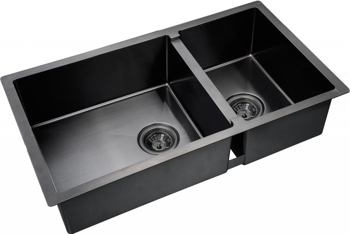 Кухонная мойка Zorg PVD 78-2-44 Grafit
