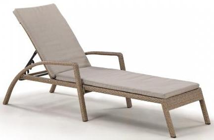 Шезлонг-лежак Афина-Мебель A30B2-W56 светло-коричневый (матрас)