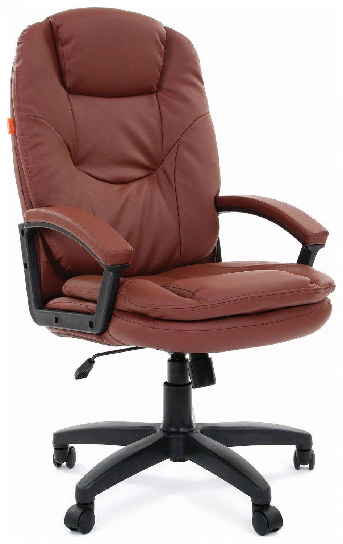 Кресло руководителя Chairman 668LT экокожа коричневый