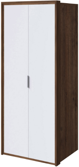 Шкаф Интердизайн Тоскано темно-коричневый/белый 221x97x60