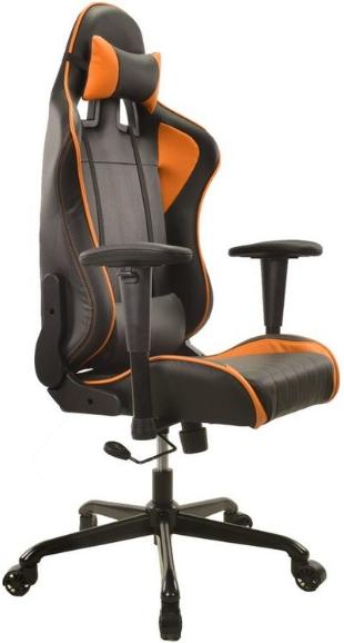 Игровое кресло Бюрократ СН-787/BL+OR черный/оранжевый