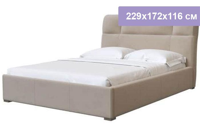Двуспальная кровать Интердизайн Тоскано Софт бежевый/бежевый 229x172x116 см (ортопедическое основание)