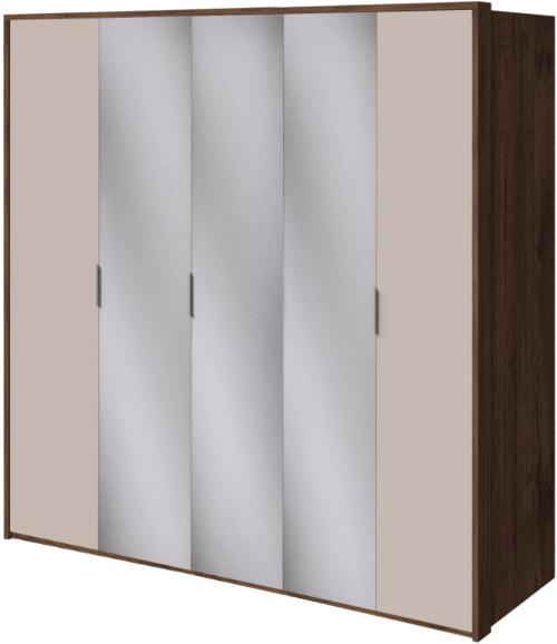 Шкаф Интердизайн Тоскано темно-коричневый/коричневый 221x232x60 см
