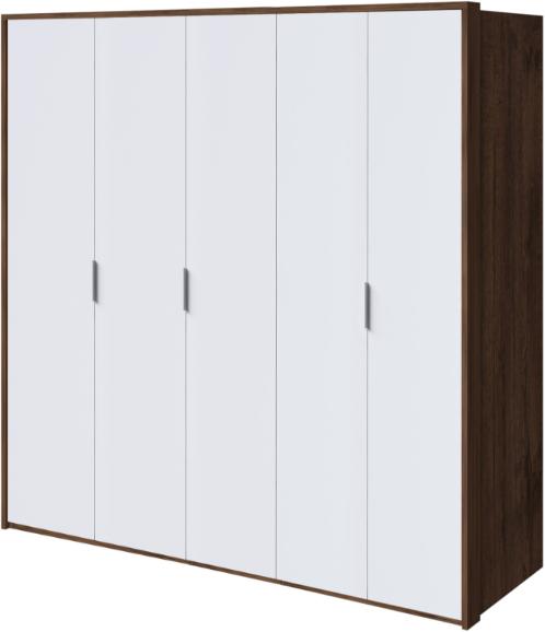 Шкаф Интердизайн Тоскано темно-коричневый/белый 221x232x60 см