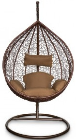 Кресло Kvimol KM-0001 коричневый (средняя корзина)