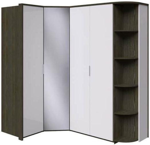 Шкаф Интердизайн Тоскано ясень темный/белый 2209x2110x599 см