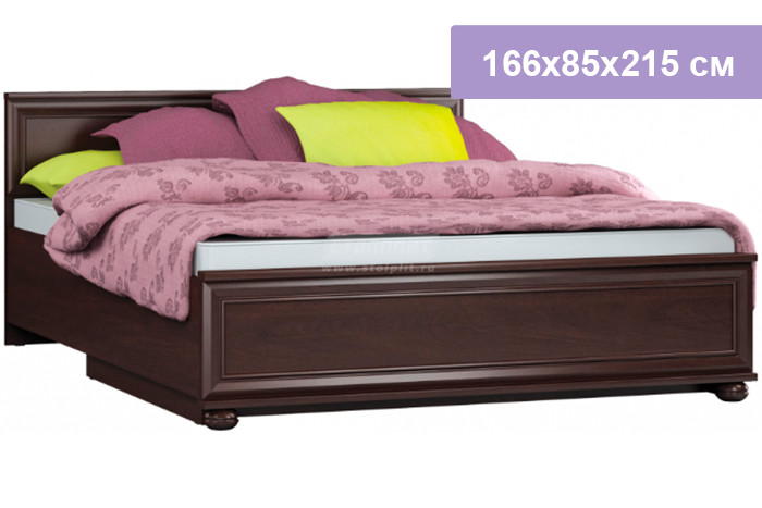 Двуспальная кровать Столплит Верди СБ-1463/1 махагон 166x85x215 см (подъемный механизм)