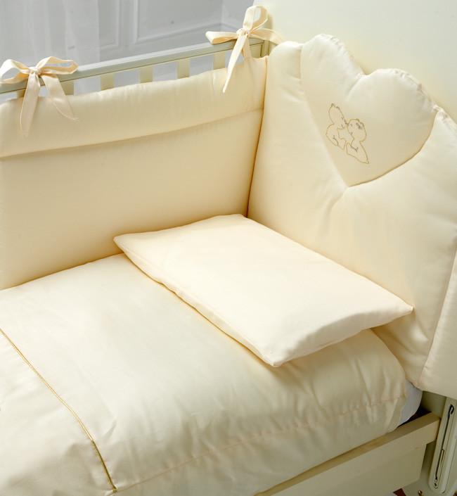 Постельное белье Baby Expert Cuore Di Mamma кремовый