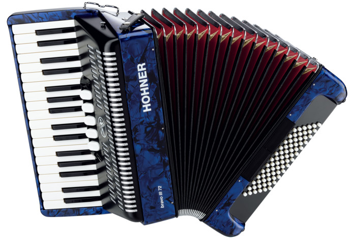 Аккордеон Hohner The New Bravo III 72 Dark Blue